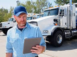 Truck Driver with computer